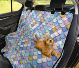 Mermaid Scales Pattern Print Design 05 Rear Dog Car Seat Cover Hammock