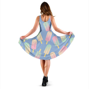 Ice Cream Pattern Print Design 05 Sleeveless Mini Dress