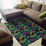 Gecko Colorful Pattern Print Design 01 Area Rug