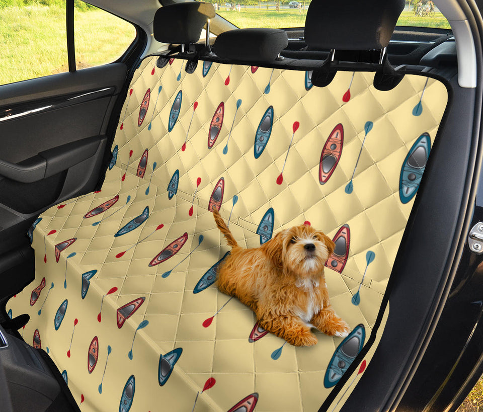 Kayak Pattern Print Design 02 Rear Dog Car Seat Cover Hammock