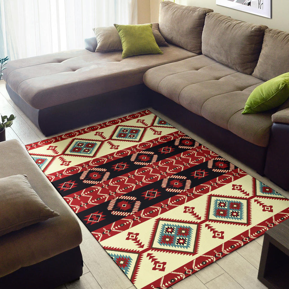 Navajo Pattern Print Design A05 Area Rug