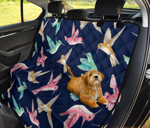 Hummingbird Cute Pattern Print Design 01 Rear Dog Car Seat Cover Hammock