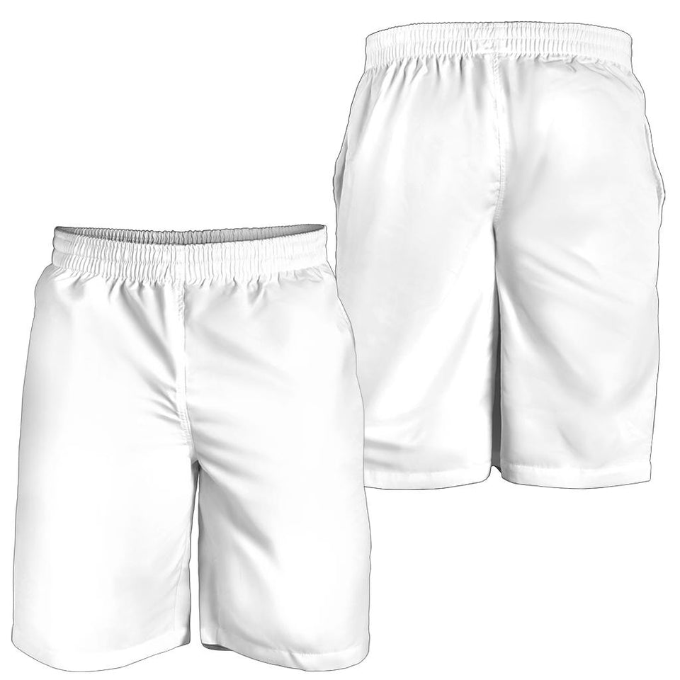 White Design Men Shorts