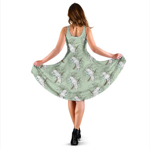 Cockatiel Pattern Print Design 01 Sleeveless Mini Dress