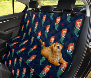 Mermaid Girl Pattern Print Design 01 Rear Dog Car Seat Cover Hammock