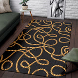 Rope Pattern Print Design A04 Area Rug