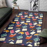 Book Pattern Print Design 01 Area Rug
