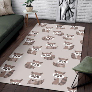 Raccoon Pattern Print Design A05 Area Rug