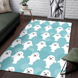 Sea Lion Baby Pattern Print Design 01 Area Rug