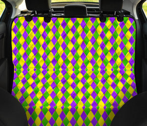 Mardi Gras Pattern Print Design 01 Rear Dog Car Seat Cover Hammock