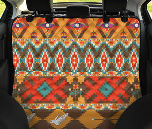 Native Pattern Print Design A01 Rear Dog Car Seat Cover Hammock