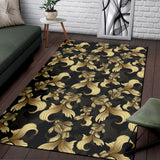 Goldfish Pattern Print Design 02 Area Rug