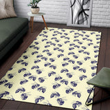 Bee Pattern Print Design 02 Area Rug