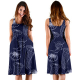 Jellyfish Pattern Print Design 05 Sleeveless Mini Dress