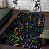 Math Pattern Print Design 03 Area Rug