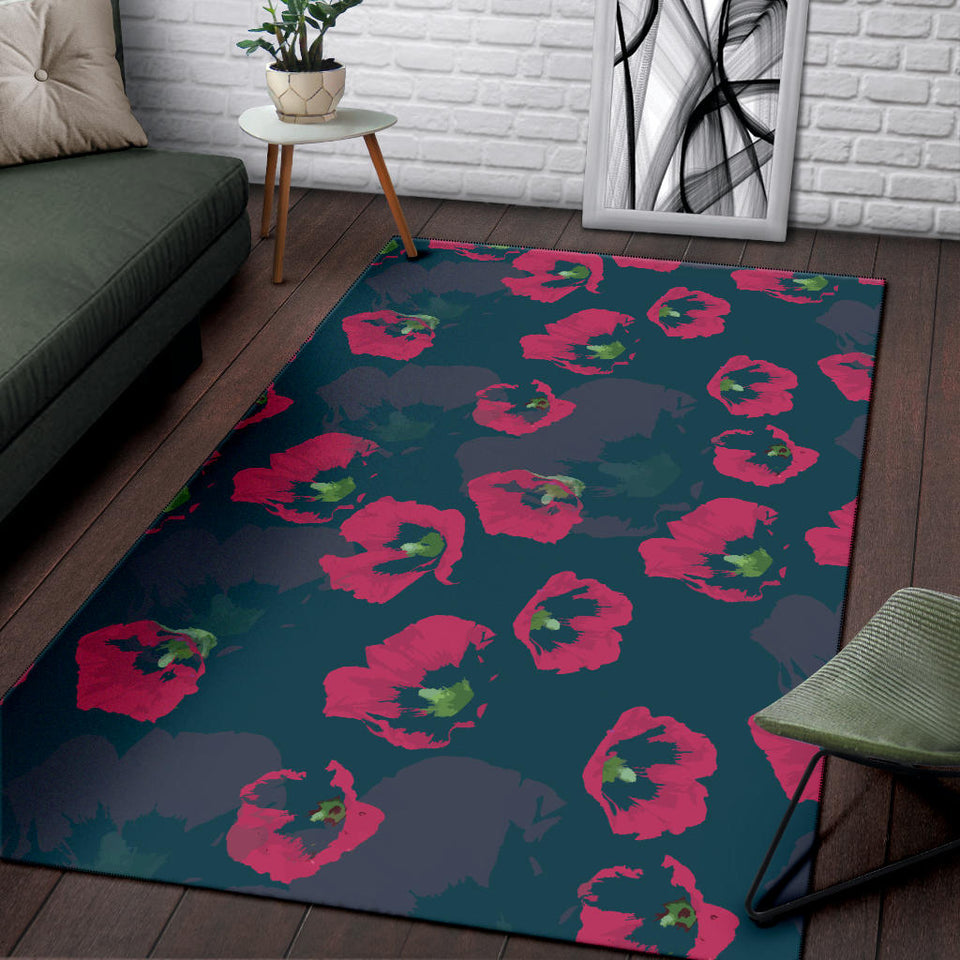 Morning Glory Pattern Print Design 01 Area Rug