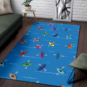 Kayak Pattern Print Design 03 Area Rug