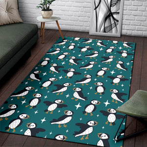 Puffin Pattern Print Design A05 Area Rug