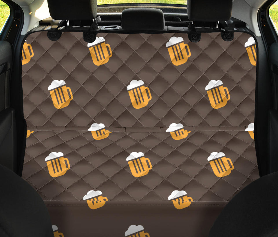 Beer Pattern Print Design 01 Rear Dog Car Seat Cover Hammock