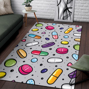 Pill Pattern Print Design A05 Area Rug