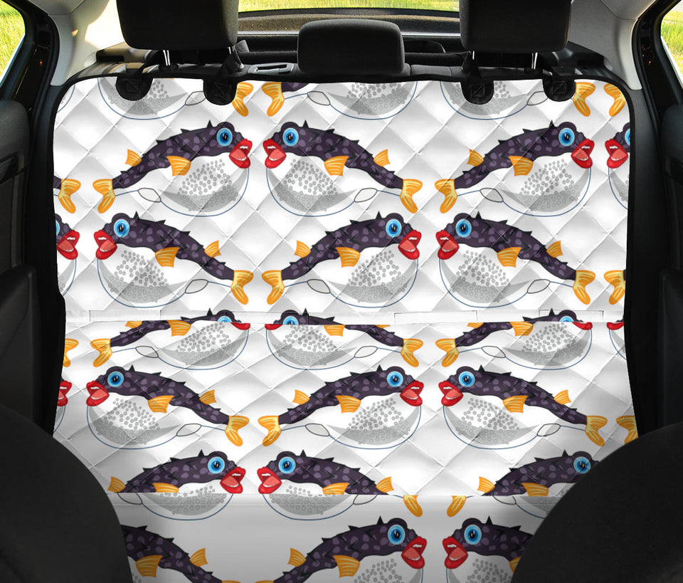 Fugu Pattern Print Design 03 Rear Dog Car Seat Cover Hammock