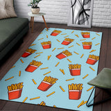 French Fried Pattern Print Design 02 Area Rug