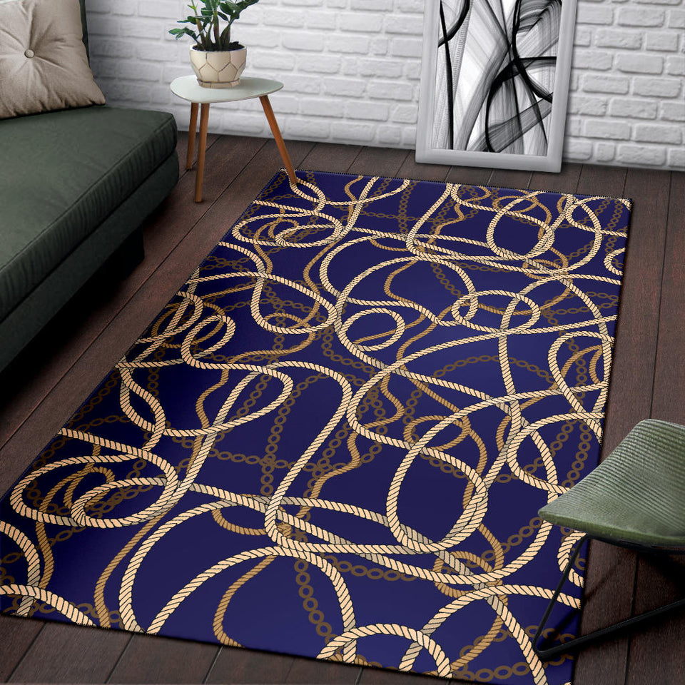 Rope Pattern Print Design A01 Area Rug