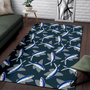 Flying Fish Pattern Print Design 04 Area Rug