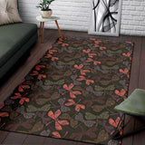 Dragonfly Pattern Print Design 02 Area Rug