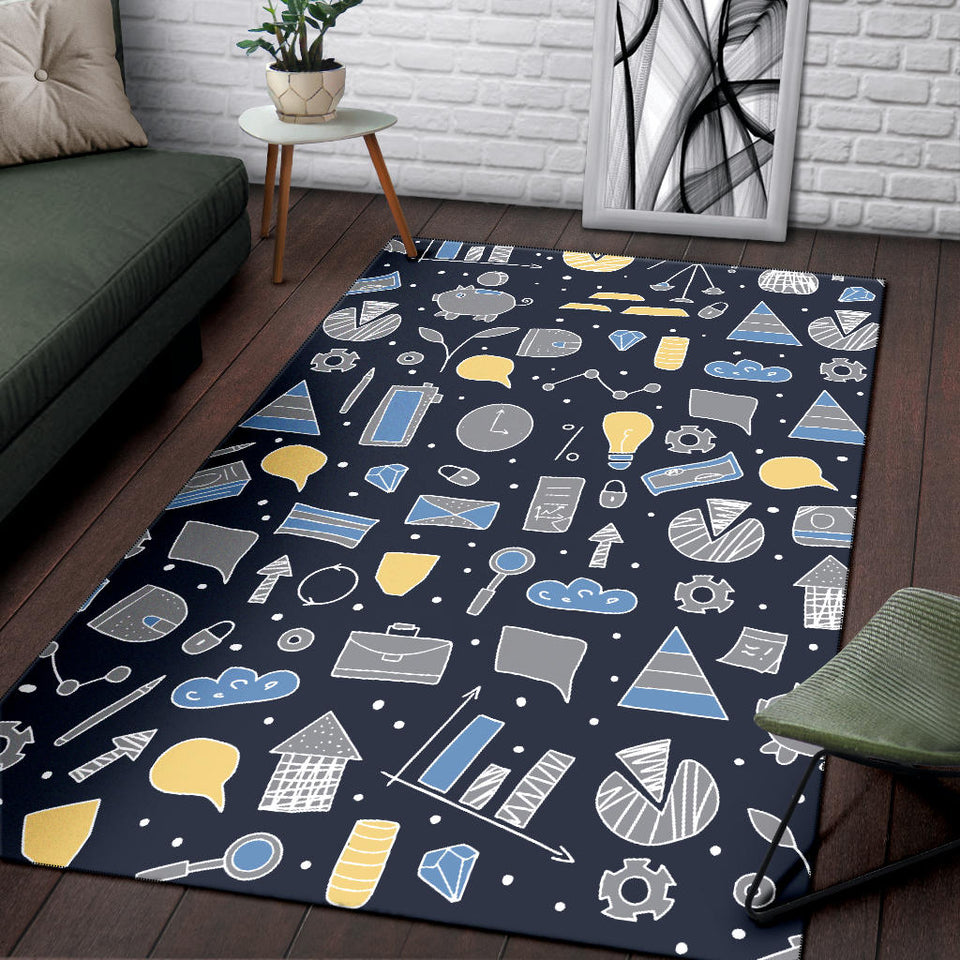 Accounting Financial Pattern Print Design 04 Area Rug