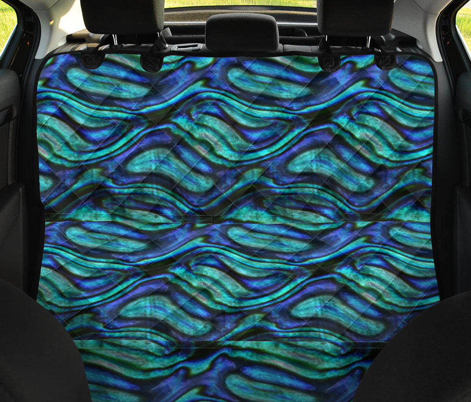 Abalone Pattern Print Design 02 Rear Dog Car Seat Cover Hammock