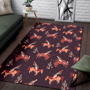 Rodeo Pattern Print Design A01 Area Rug