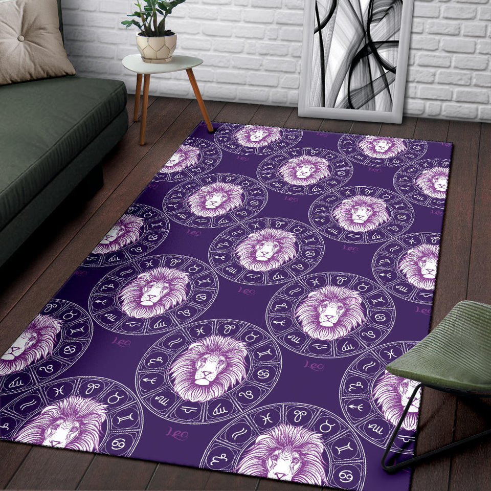 Leo Pattern Print Design 04 Area Rug