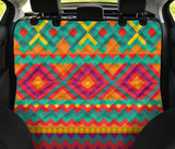 Mexican Pattern Print Design 04 Rear Dog Car Seat Cover Hammock