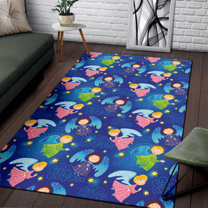 Angel Little Pattern Print Design 02 Area Rug