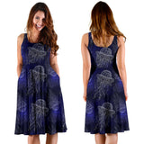 Jellyfish Pattern Print Design 02 Sleeveless Mini Dress