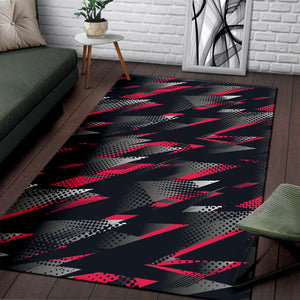 Racing Style Pattern Print Design A04 Area Rug