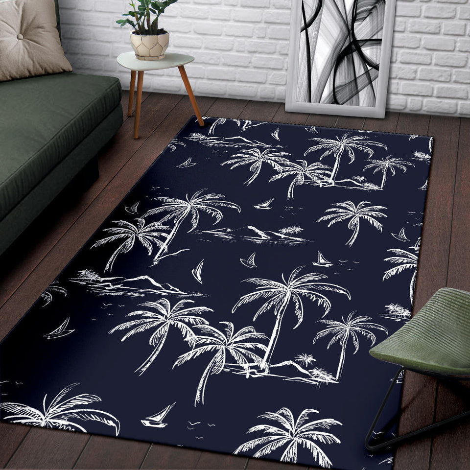 Pacific island Pattern Print Design A02 Area Rug