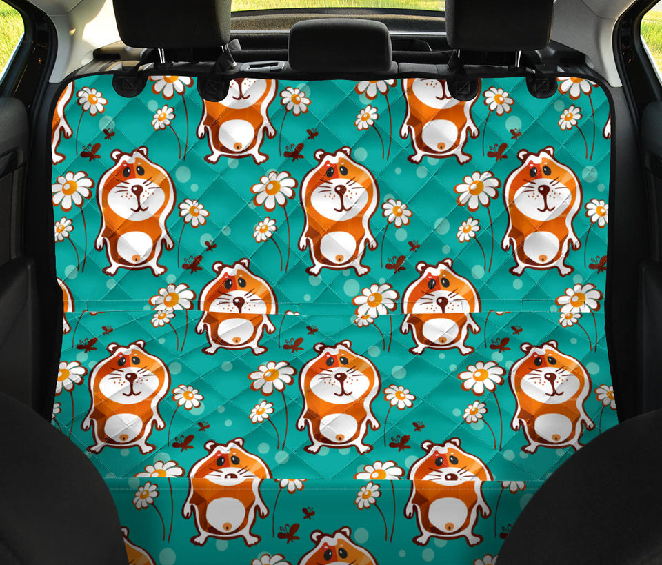Hamster Pattern Print Design 01 Rear Dog Car Seat Cover Hammock