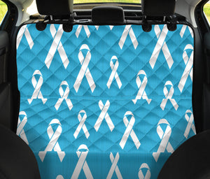 Liver cancer Pattern Print Design 01 Rear Dog Car Seat Cover Hammock