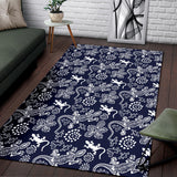 lizard Pattern Print Design 03 Area Rug