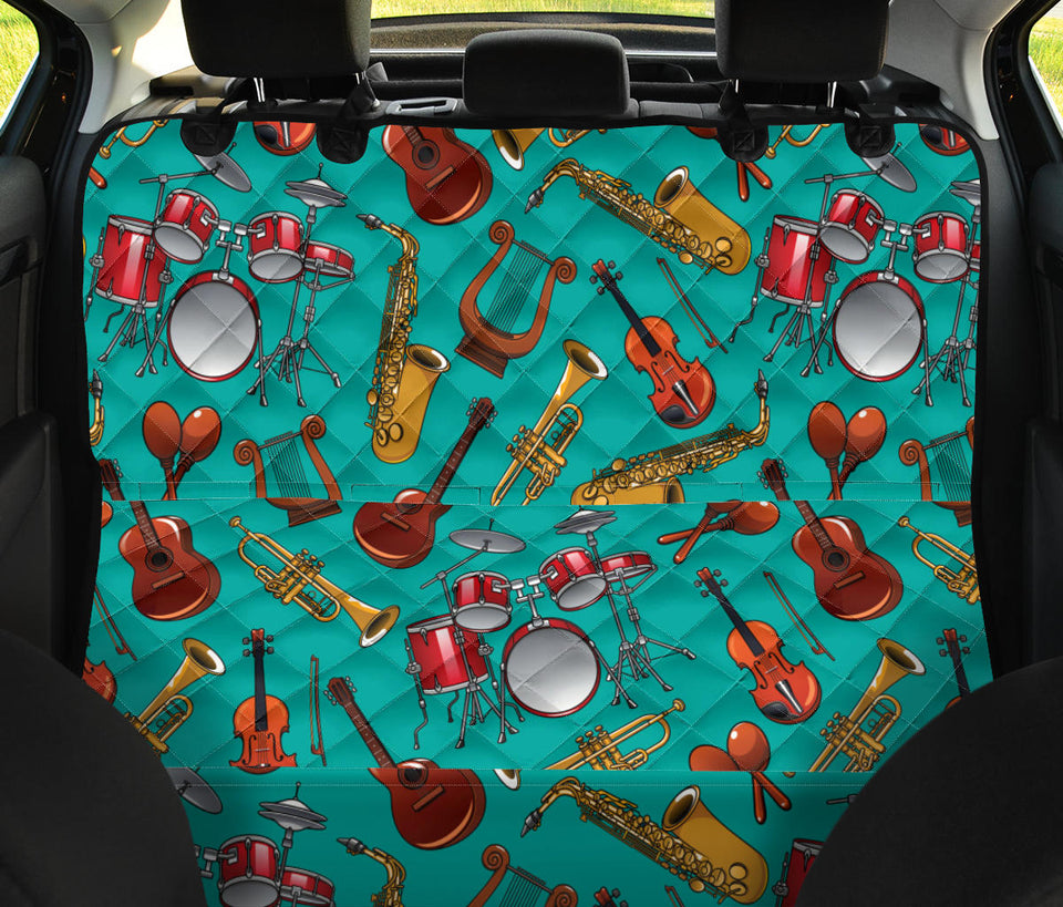 Drum Set Pattern Print Design 01 Rear Dog Car Seat Cover Hammock