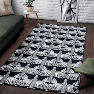 Flying Fish Pattern Print Design 03 Area Rug