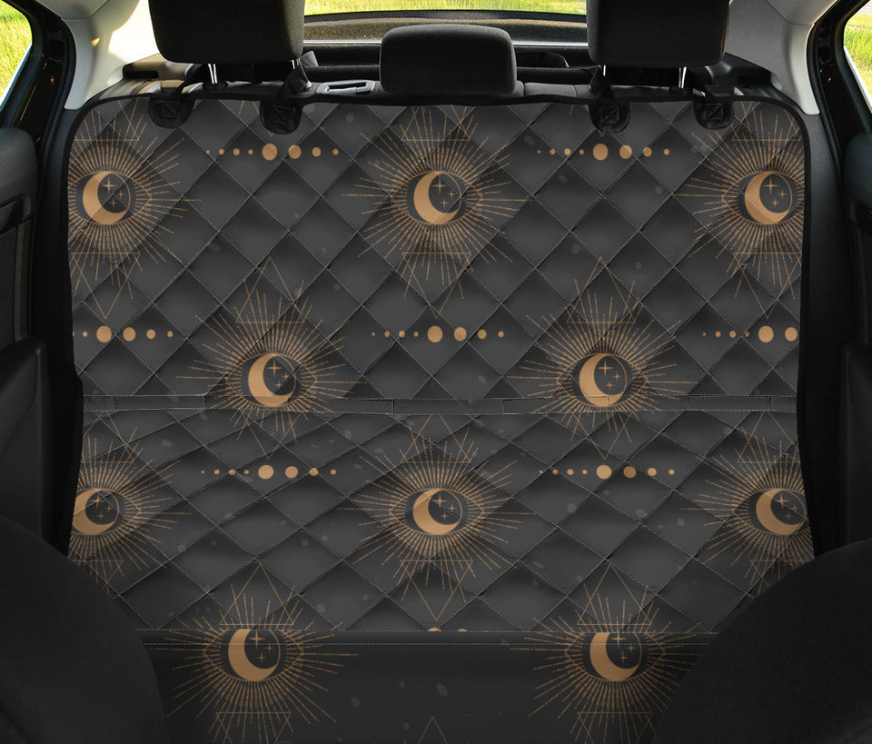 Moon Boho Pattern Print Design 02 Rear Dog Car Seat Cover Hammock