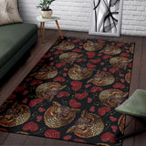 Owl Pattern Print Design A08 Area Rug