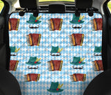 Accordion Mustache Pattern Print Design 01 Rear Dog Car Seat Cover Hammock
