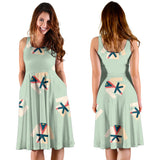 Karate Pattern Print Design 02 Sleeveless Mini Dress