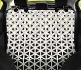 Geometric Black White Pattern Print Design 03 Rear Dog Car Seat Cover Hammock
