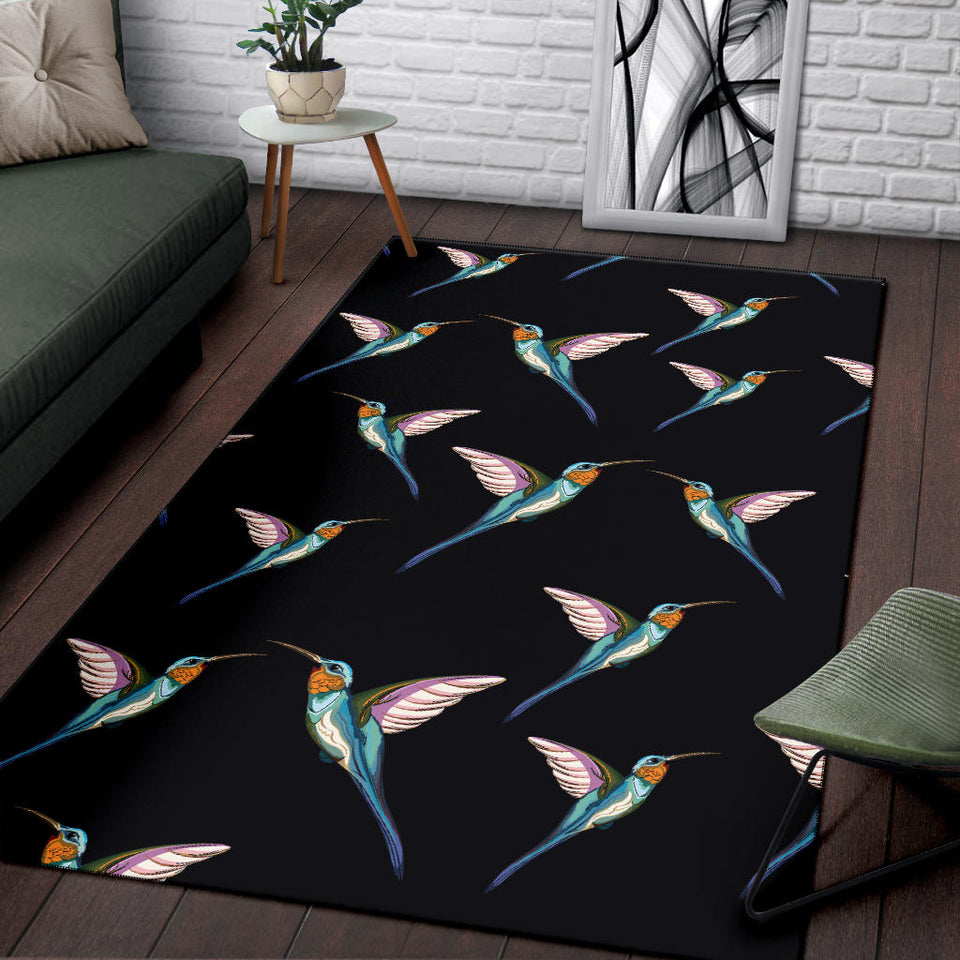 Hummingbird Pattern Print Design 06 Area Rug