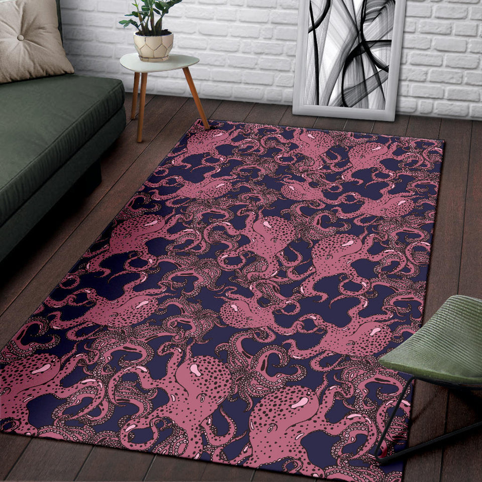 Octopus Pattern Print Design A03 Area Rug